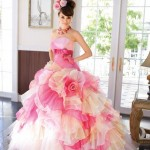 Japanese Ruffled Wedding Dresses