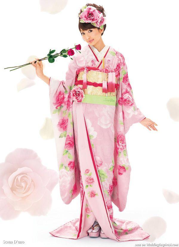 Pink Wedding Kimono by Scena D'uno