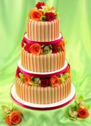 Candy Stripe Cake