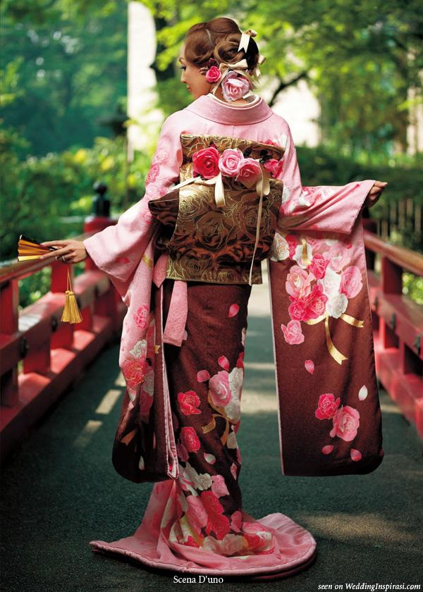 Floral Traditional Wedding Kimono