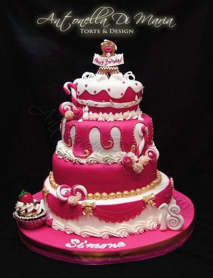 Antonella Di Maria Pink Candy Cake