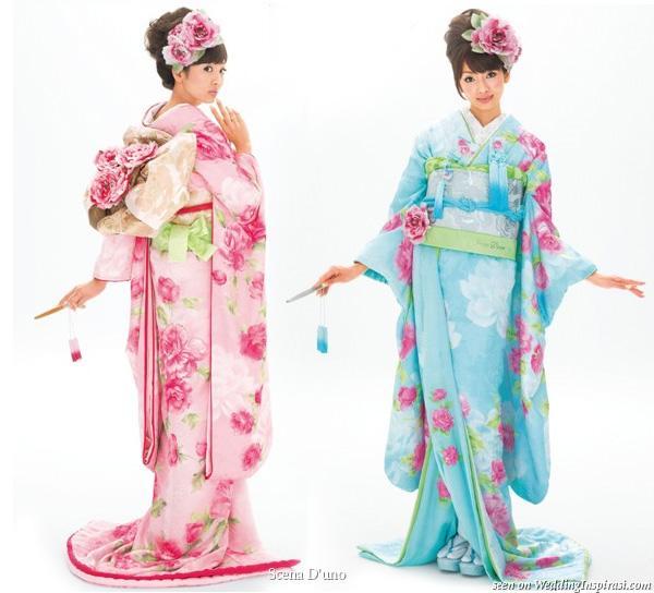 Blue Wedding Kimono
