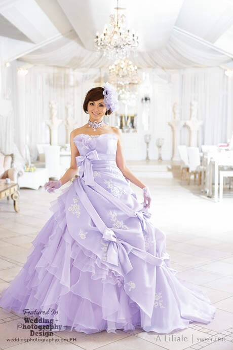 lavender japanese wedding dress