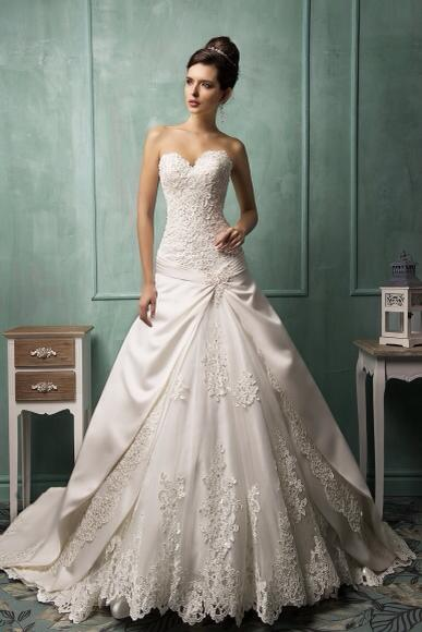 Amelia Sposa Strapless Wedding Dress