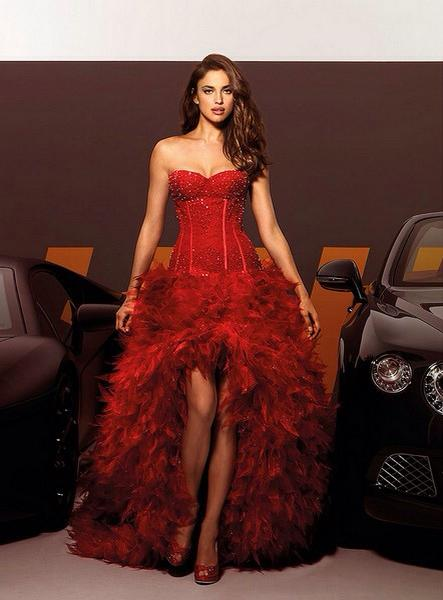 Fiery Red Italian Wedding Dress by Alessandro Couture
