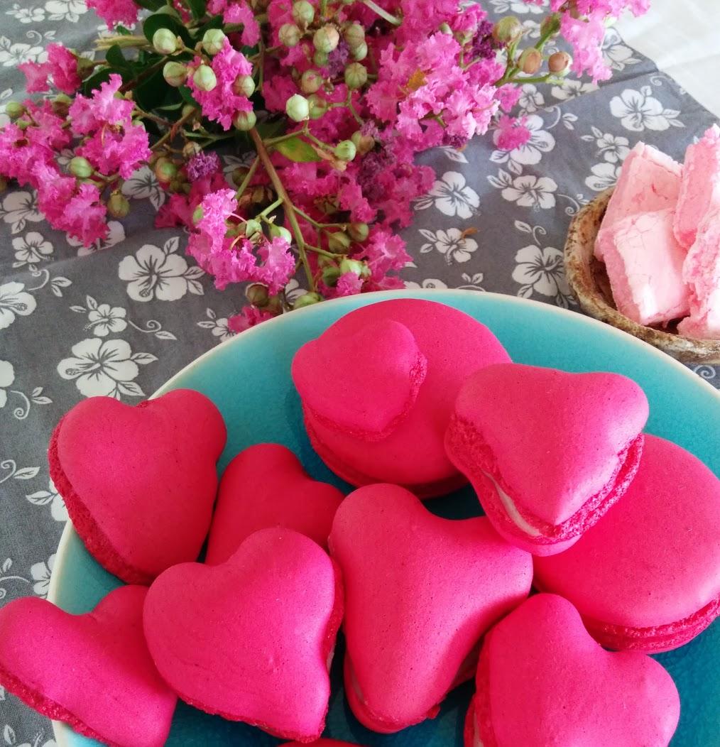 pink french macaron