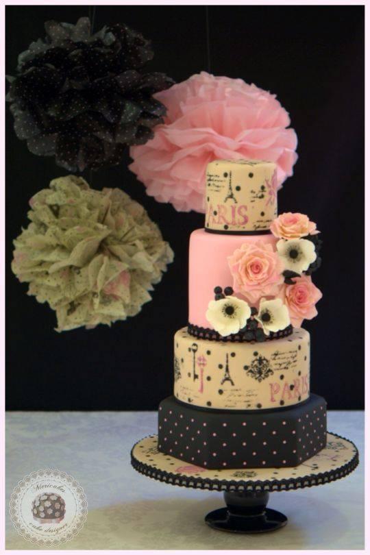 Mon Amour Wedding Cake
