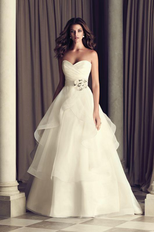 Organza Bridal Gown with Chapel Train