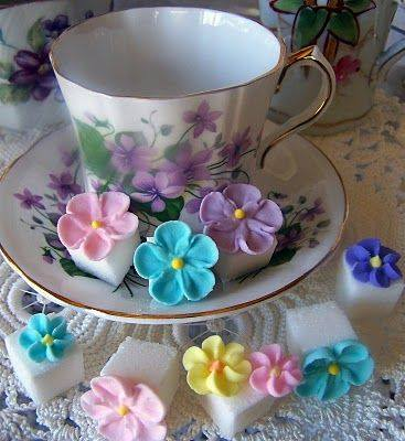 Royal Icing Flower Sugar Cubes