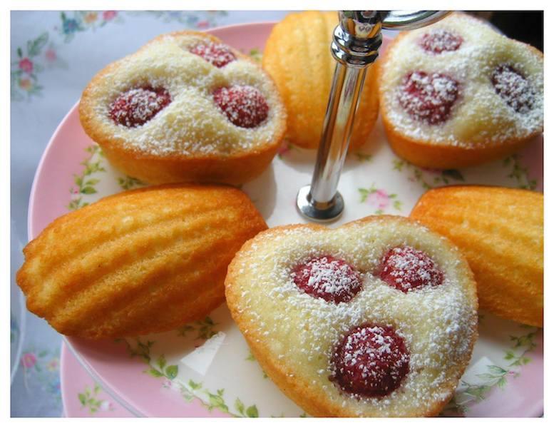 raspberry friand madeline