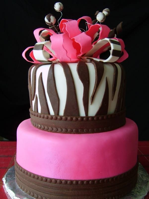 Hot Pink Crown Cake